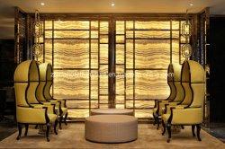 Fábrica de muebles modulares barato el vestíbulo del hotel Recepción sillas de cuero