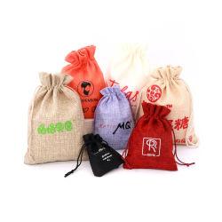 Cordão de juta de saco, Personalizar Grosso Eco reutilizáveis reciclados roupa de estopa orgânicos tecido Hesse Muslin Caliça Veludo Natural Jóias Saco promocional