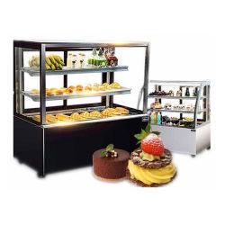 Le barre fredde dell'alimento del frigorifero della visualizzazione della vetrina della torta ricambiano la visualizzazione del refrigeratore della torta del piano d'appoggio di Chiler della torta