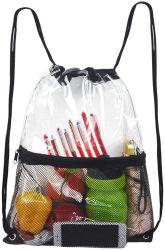 Claro Bolsa Drawstring - PVC Cordón mochila para la escuela, eventos deportivos, viajes, gimnasio, el trabajo