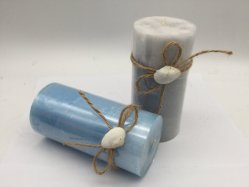 بحريّة أسلوب بارافين جعل شمع يلوّن عمود شمعة مع قناب حبل وقشرة قذيفة زخرفة