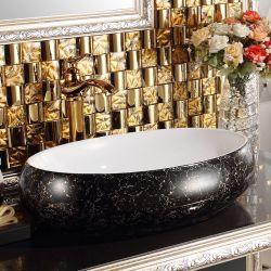 Lavabo sanitario di arte della porcellana della decalcomania degli articoli per il lavabo (C1196A)