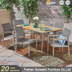 Sunward Venta caliente Personalizar Garden Resort Hotel Patio ocio al aire libre Restaurante muebles silla y mesa de aluminio
