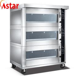 Elektrisch Brood Oven Voor Bakkerij Opslag Roestvast Staal Heavy Duty Pizza Oven