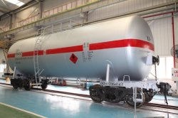 70t 가벼운 기름을%s 철도 탱크 수레