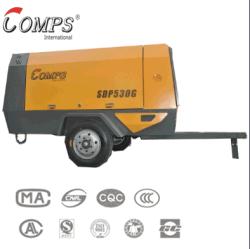 De draagbare van de Diesel van de Compressor Compressor Met motor Lucht van de Schroef voor het boren