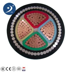 3 FASE XLPE com isolamento de PVC flexível blindados 4 Core de baixa tensão de alimentação do cabo eléctrico