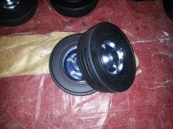 Резиновые Inflatless порошок высокая эластичность гибкого колеса из твердого каучука (9X3')