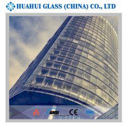 Design moderno prédio de fachada exterior Glassfor isolados na parede lateral do projecto de construção