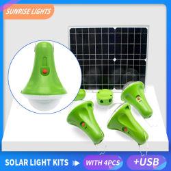 LEDの軽い省エネランプによっては太陽エネルギーシステムリモート・コントロール25W 15Wの太陽電池パネルが付いている太陽ランプの携帯用ランプが家へ帰る