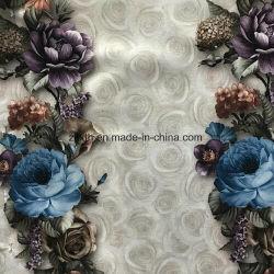 2017 linhas impressas de flores de tecido de veludo para sofá, estofos