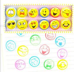 As crianças coloridos OEM Kids Toy 12 Emoji Stamper Carimbo