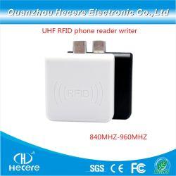 840MHz-960MHz USB OTG Teléfono Móvil UHF RFID Reader Lector de tarjetas inteligentes