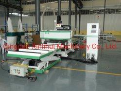 メーカー・スラント・ベッド水平自動経済ヘビー・デューティ 4 軸 木切削旋削加工 CNC 旋盤 6 軸穴あけ加工 3D CNC マシン