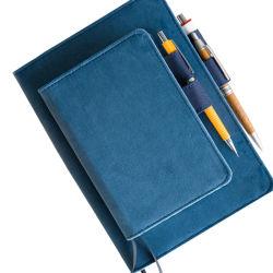 Premium rechargeables personnalisé en velours doux Journal de voyage pour ordinateur portable A5