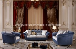Tecido Azul clássico Novo Chinês Sofá Sala Escura