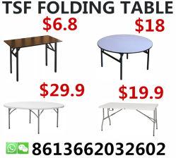Acampamento de jantar retângulo de plástico Hotel Banquetes mesa dobrável para exterior em PVC