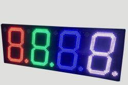Digitale hoogte 10 inch/12 inch/16 inch RGB 7 kleuren LED-LED voor digitaal display Teken gasprijs