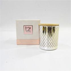 Decoratieve Glazen Kaartenhouder Tealight Gift Met Houten Deksel