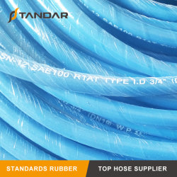 SAE100 R1en el trenzado de alambre de acero flexible de goma de la presión de la manguera hidráulica
