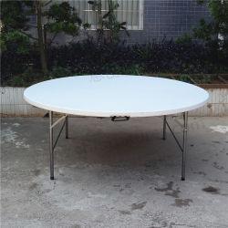 Tabella piegante rotonda bianca Yc-T61 di cerimonia nuziale della resina di plastica della mobilia esterna del giardino