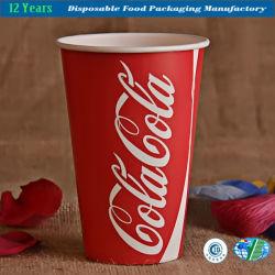16oz copos de papel descartável chá café frio quente parte bebidas