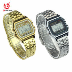 2018 Nouveau garçons/Mens Sport plastique montre-bracelet numérique LCD Hommes- V178