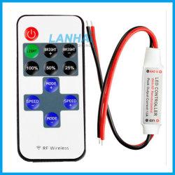 Mini rf regolatore della luminosità a distanza senza fili del regolatore di interruttore di CC 12V-24V per gli indicatori luminosi di striscia del LED