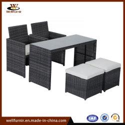 Promociones mimbre al aire libre Jardín Patio Bar con mesa y silla muebles