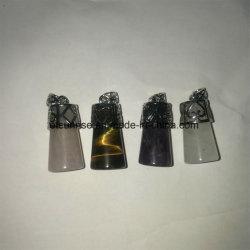 Moda Pingente, Semi Precious Stone pingente, pingente de cristal (ESB01423)