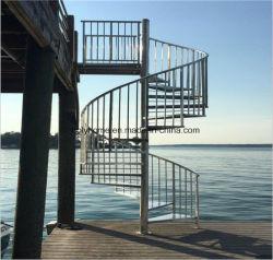 Madeira escada em espiral preço de fábrica de aço