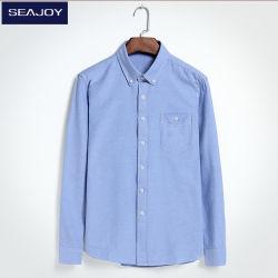 100%Cotton 긴 소매 우연한 셔츠 옥스포드 남자의 셔츠