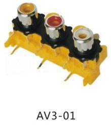6 Pin PWB-Montierung RCA-Stecker