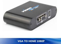 Lien simplement Non-Plastic VGA à convertisseur de vidéo HDMI avec prise HDMI femelle prise en charge audio de haute qualité Full HD 1080p