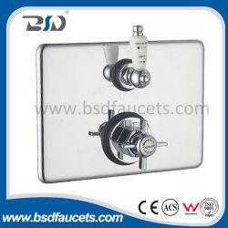 Медный твиновский клапан ливня Concealed&Exposed термостатический с прямоугольной плитой