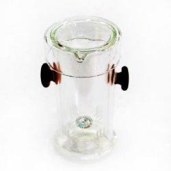Оптовая торговля новый стиль высокое здание из стекла с ручкой Teapot