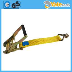 La correa de sujeción de la carraca de cuerda con gancho, doble polea de metal