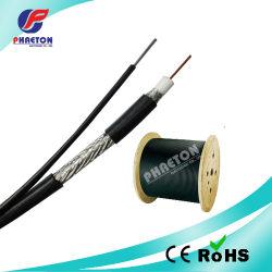 Rg11 Cable coaxial RF con acero Messenger 75 ohm para CATV