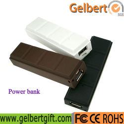 Novo Gadget Pequeno Bonitinha Chocolate Banco de Energia Móvel