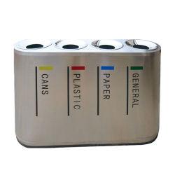 En el exterior de acero inoxidable decorativos conveniente camada de recolección de residuos clasificados puede contenedor