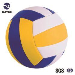 Weiche Noten-amtliches förderndes langlebiges Gut Belüftung-PU-Leder lamellierter Sport-Kugel-Volleyball