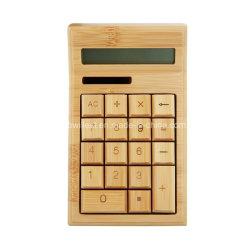 Calculadoras de Energia Solar De madeira de bambu Função Padrão Calculadora de secretária de 12 dígitos com visor grande