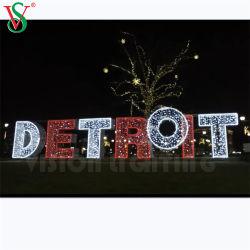 Nuevo canal dirigido al aire libre Carta signos Feliz Navidad Motif Lights