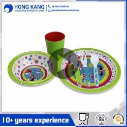 Insieme di plastica multicolore dell'articolo da cucina del padellame della melammina degli articoli per la tavola