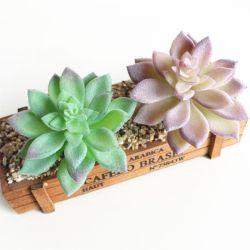 로터스 작풍 인공 꽃 인공적인 Succulents 플랜트 무리를 짓기