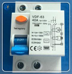 2P 4p 30mA 16A 25A 32A 40A 50A 63A 80A 100a RCD RCCB tipo B para puntos de carga