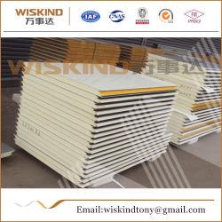 50mm/75mm/100mm/150mm/200mm/300mm de EPS/PU/PIR/violeta/poliuretano/paneles sándwich de lana de roca para la estructura de acero/cámaras frigoríficas de pared y techo de la Aislamiento