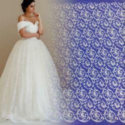 Het goedkopere Kant van de Stof van het Borduurwerk van de Prijs Lucury Geparelde verfraait de Kleding van het Huwelijk