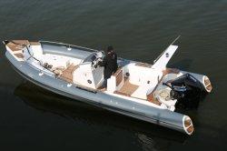 最新モデル中国リブ 760 グラスファイバー製釣りボート速度 CE 付きのボートの販売