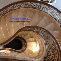 De granito y mármol travertino//de la escalera de piedra caliza y escalones/Piso/Upstair verticales para Interior/Outterior